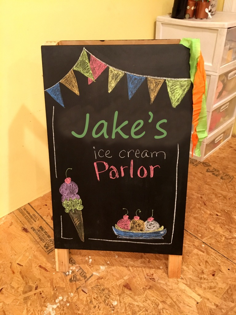 Ice Cream Parlor Chalkboard for Ice Cream Birthday Theme